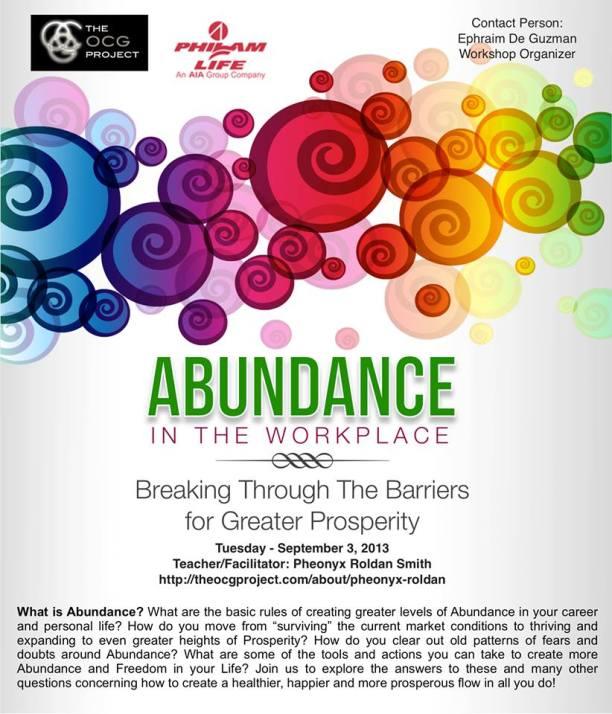 Manifesting Abundance Phil-Am Poster